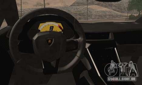 Lamborghini Veneno LP750-4 White Black 2014 HQLM para GTA San Andreas traseira esquerda vista