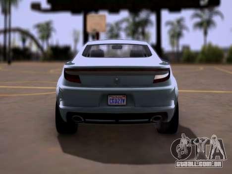 GTA V Ocelot Jackal para GTA San Andreas vista direita