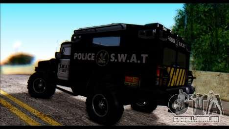 SWAT Enforcer para GTA San Andreas esquerda vista