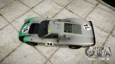 Ford GT40 Mark IV 1967 PJ Arnao Racing 74 para GTA 4 vista direita