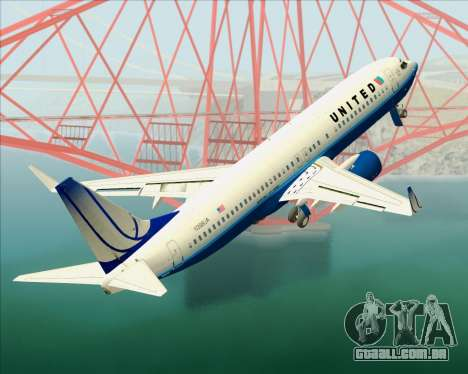 Boeing 737-800 United Airlines para GTA San Andreas