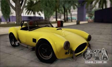 Shelby Cobra V10 TT Black Revel para vista lateral GTA San Andreas