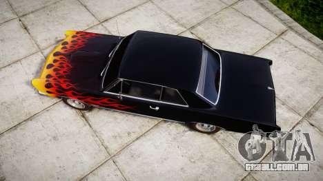 Pontiac GTO 1965 Flames para GTA 4 vista direita