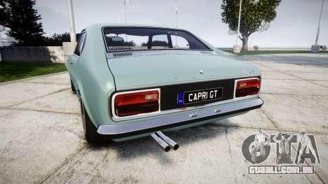 Ford Capri GT Mk1 para GTA 4 traseira esquerda vista