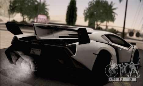 Lamborghini Veneno LP750-4 White Black 2014 HQLM para GTA San Andreas esquerda vista