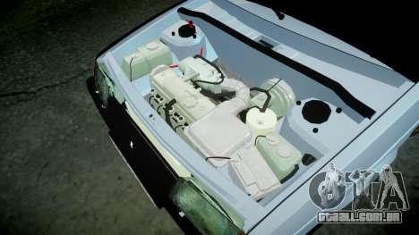UTILIZANDO-2109 hobo para GTA 4 vista interior