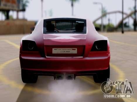 GTA 5 Fusilade para GTA San Andreas traseira esquerda vista