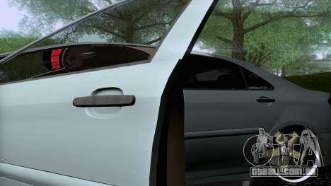 Toyota Vios Extreme Edition para GTA San Andreas vista traseira