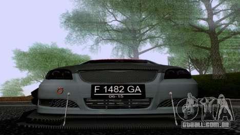 Toyota Vios Extreme Edition para GTA San Andreas vista interior