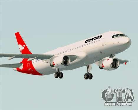 Airbus A320-200 Qantas para GTA San Andreas vista interior
