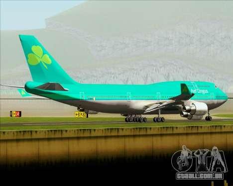 Boeing 747-400 Aer Lingus para GTA San Andreas vista inferior