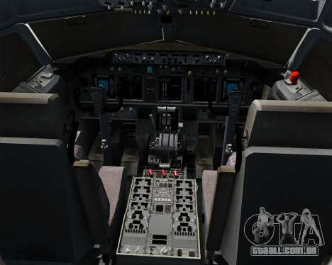 Boeing 737-800 Southwest Airlines para GTA San Andreas interior