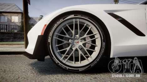 Chevrolet Corvette Z06 2015 TireBFG para GTA 4 vista de volta