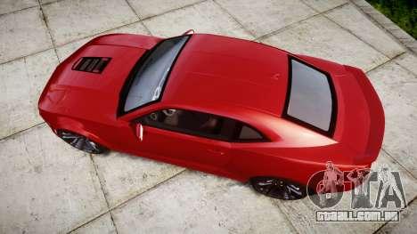 Chevrolet Camaro Z28 2014 para GTA 4 vista direita