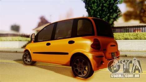 Fiat Multipla Normal Bumpers para GTA San Andreas esquerda vista