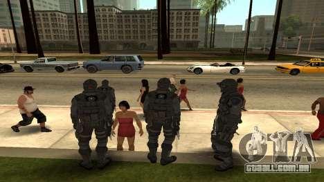 Skin Third Echelon para GTA San Andreas terceira tela