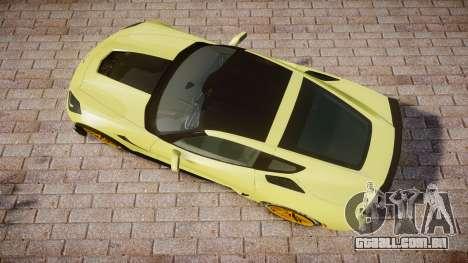 Chevrolet Corvette Z06 2015 TireGY para GTA 4 vista direita