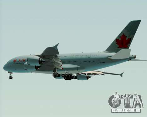 Airbus A380-800 Air Canada para GTA San Andreas vista interior