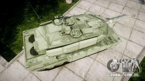 Leopard 2A7 PT Green para GTA 4 vista direita