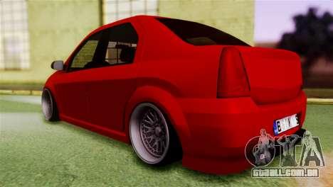 Dacia Logan Kys para GTA San Andreas esquerda vista