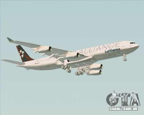 Airbus A340-300 Lufthansa (Star Alliance Livery) para GTA San Andreas vista superior