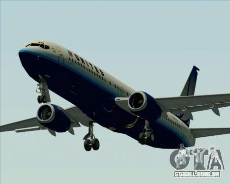 Boeing 737-800 United Airlines para GTA San Andreas vista superior