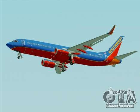 Boeing 737-800 Southwest Airlines para as rodas de GTA San Andreas