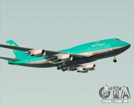 Boeing 747-400 Aer Lingus para GTA San Andreas traseira esquerda vista