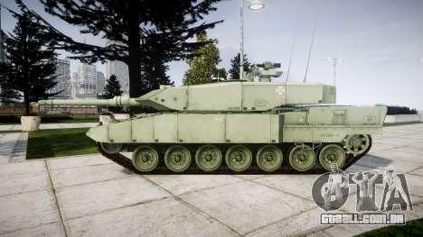 Leopard 2A7 PT Green para GTA 4 esquerda vista
