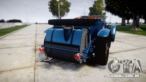 Bentley Blower 4.5 Litre Supercharged [high] para GTA 4 traseira esquerda vista