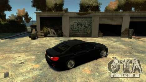 BMW 525 F10 para GTA 4 vista direita