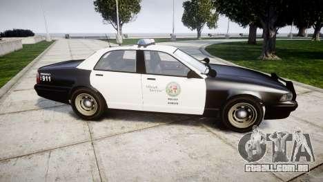 GTA V Vapid Police Cruiser Rotor para GTA 4 esquerda vista