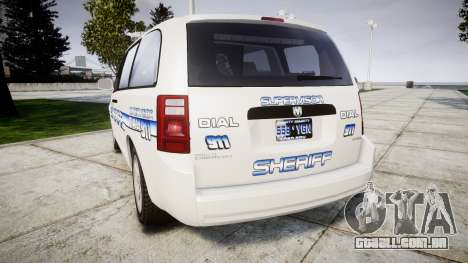 Dodge Grand Caravan [ELS] Liberty County Sheriff para GTA 4 traseira esquerda vista