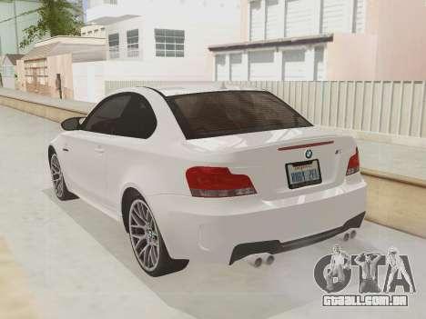 BMW 1M 2011 para GTA San Andreas vista interior