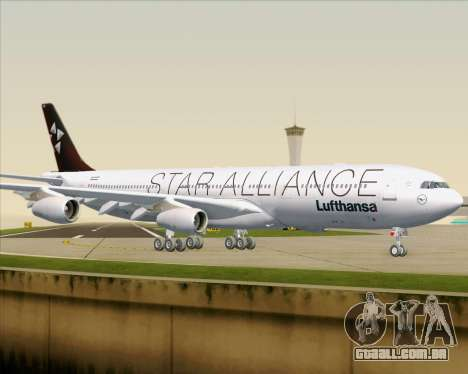 Airbus A340-300 Lufthansa (Star Alliance Livery) para GTA San Andreas vista inferior