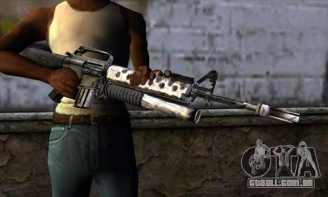 M4 from Call of Duty: Black Ops v2 para GTA San Andreas terceira tela