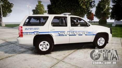 Chevrolet Tahoe [ELS] Liberty County Sheriff para GTA 4 esquerda vista