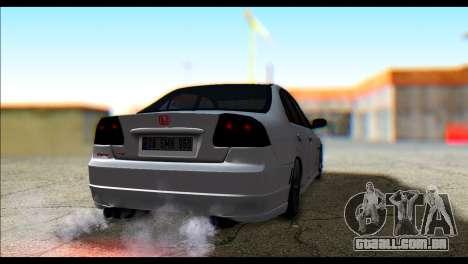 Honda Civic VteC para GTA San Andreas esquerda vista