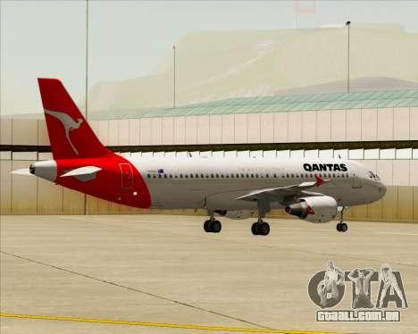 Airbus A320-200 Qantas para GTA San Andreas vista traseira