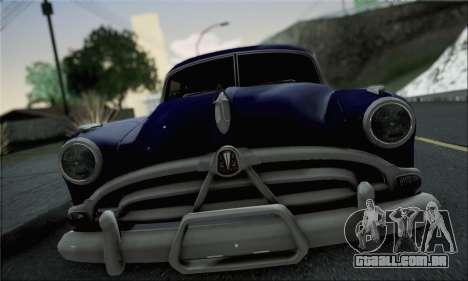 Hudson Hornet 1952 para GTA San Andreas traseira esquerda vista