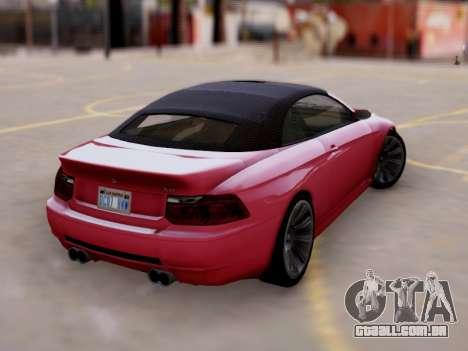 A superioridade de Sião convertíveis em GTA V para GTA San Andreas esquerda vista