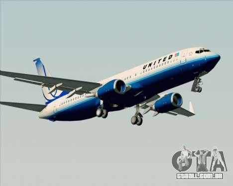 Boeing 737-800 United Airlines para GTA San Andreas vista interior