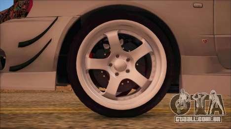Nissan Skyline R34 GTR V-Spec 2 para GTA San Andreas traseira esquerda vista