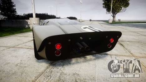 Ford GT40 Mark IV 1967 PJ Arnao Racing 74 para GTA 4 traseira esquerda vista