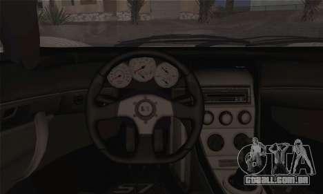 Saleen S7 Twin Turbo para GTA San Andreas traseira esquerda vista