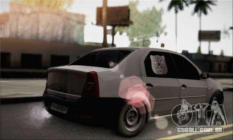 Dacia Logan 2009 para GTA San Andreas esquerda vista