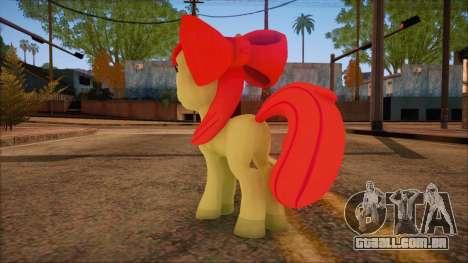 Applebloom from My Little Pony para GTA San Andreas segunda tela