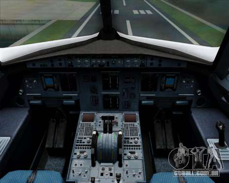 Airbus A320-200 Qantas para GTA San Andreas interior
