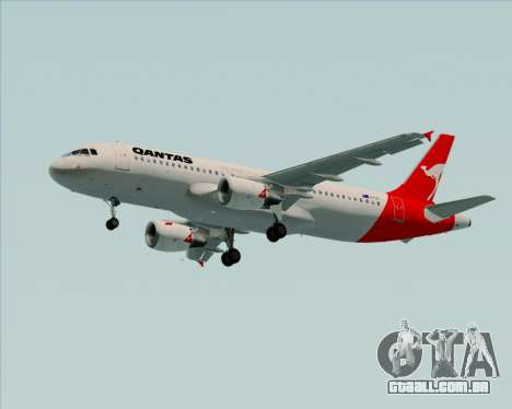 Airbus A320-200 Qantas para as rodas de GTA San Andreas