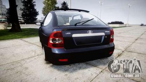 ВАЗ-21728 LADA Priora Coupe para GTA 4 traseira esquerda vista